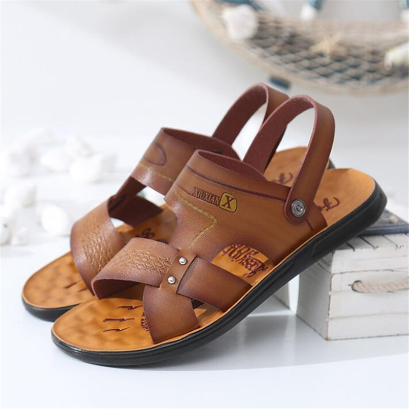 New men 39 s shoes summer open toe sandals fashion trend beach shoes slippers men 39 s run sandals and slippers Fisherman in Men 39 s Sandals from Shoes