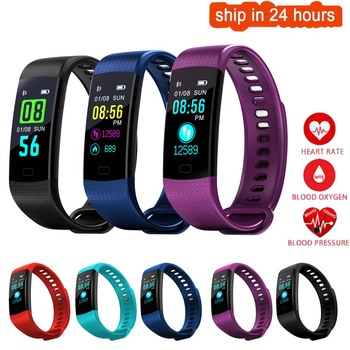 K35 Color Screen Smart Wristband Sports Bracelet Heart Rate Blood Pressure Oxygen Fitness Tracker for IOS Android Smartphones