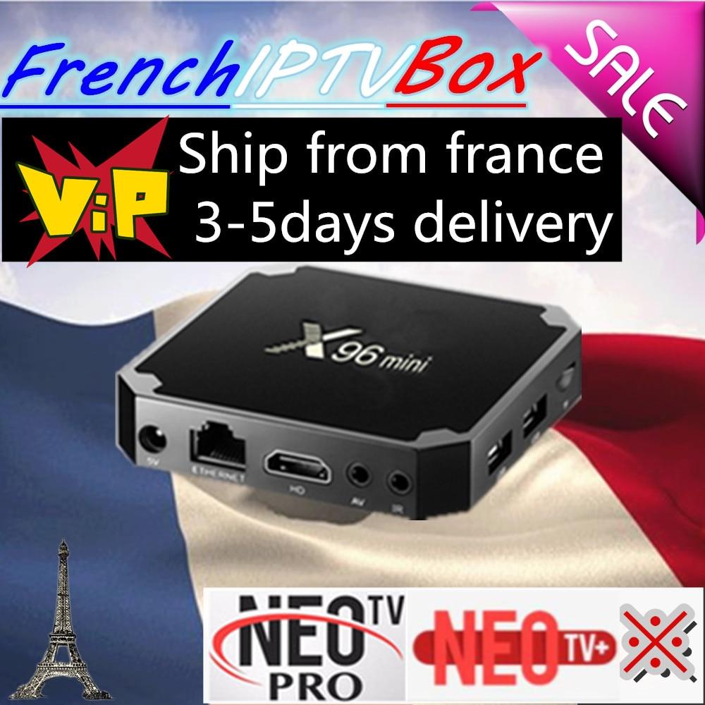 French belgium X96 mini IPTV Android smart TV box IPTV Europe 1200 Live 2000 vod HDMI