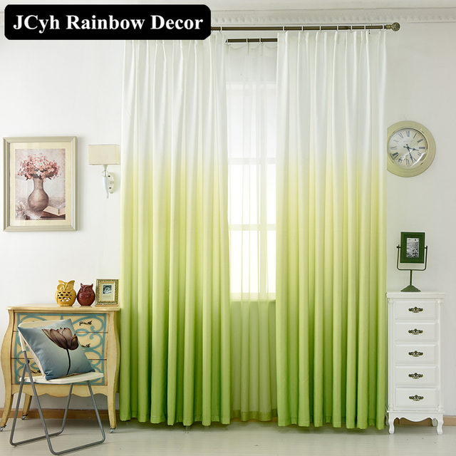 Modern Rainbow Colorful Window Blackout Curtains For Living Room ...