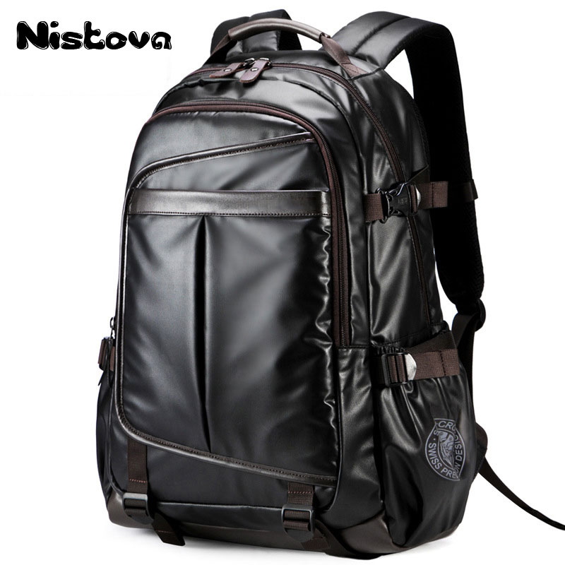 New Men Backpack For 15.6 Inches Laptop , Large Capacity Student Backpack Casual Style Bag Water Repellent Unisex Luggage & Bags