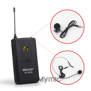 Image 5 - IiiMymic IU 302A UHF 600 700MHz برو ثنائي القناة ميكروفون لاسلكي 2 Bodypack + 2 التلبيب و 2 سماعة ميكروفون نظام ل DJ كاريوكي