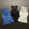 Summer women sexy tank tops sleeveless shirt elastic quick dry mesh breathable hollow out vest fitness exercise