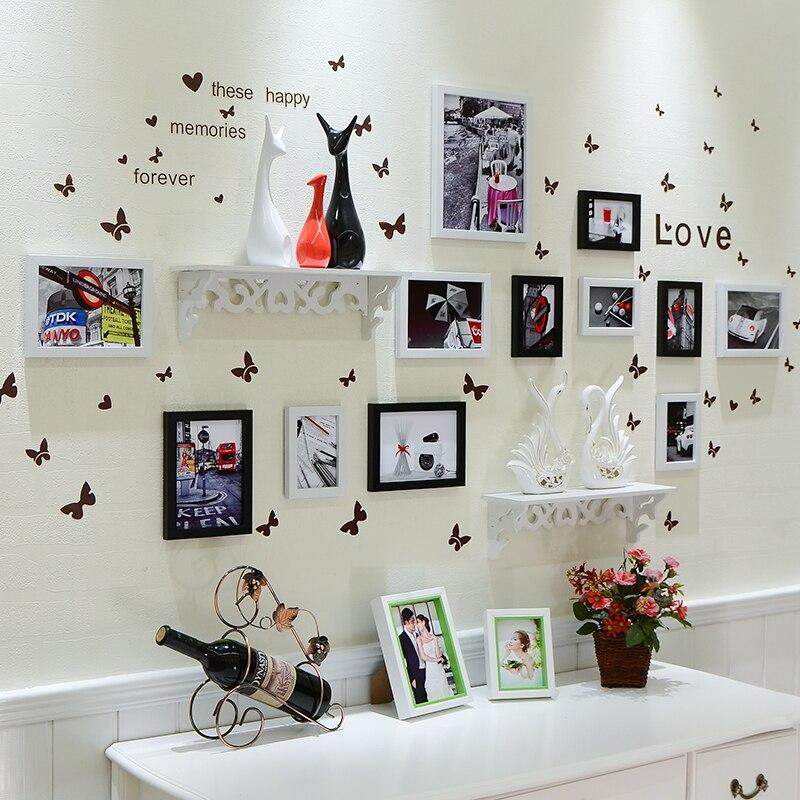 Фото стены фоторамка Мода комбинированная полка рамка фото стена - 3