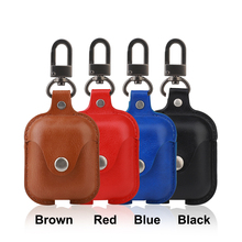 Bluetooth Earphone Case For Airpods Leather Shockproof Protective Cover iPhone Air Pods
