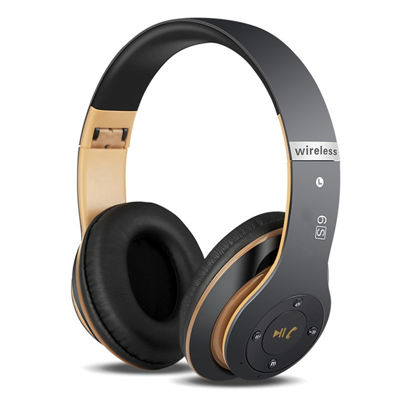 6S Folding Wireless Headphone HIFI Casque Audio Bluetooth Earphones Stereo Bass Subwoofer Headset With Mic Support