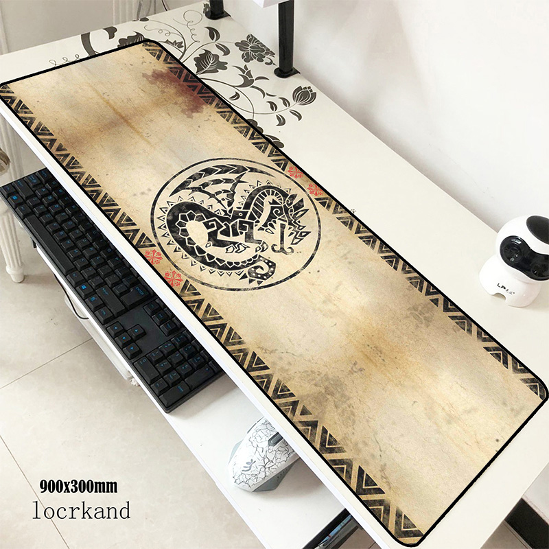 Monster Hunter Mouse Pad 90x30cm Mousepads Birthday Gaming Mousepad Gamer Domineering Personalized Mouse Pads Keyboard Pc Pad