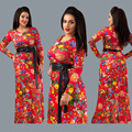 2016 Продажа Традиционных Африканских Одежды Африканская Женская Одежда 2017 Новых Крупных Женщин Размер Мода Досуга Платье Цифровая Печать