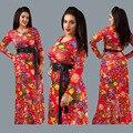 2016 Venta de Ropa Tradicional Africana Africano Ropa de Mujer 2017 Nuevas Mujeres de Gran Tamaño de Ocio de Moda Vestido de la Impresión Digital