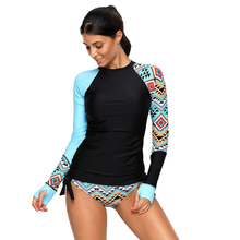 4XL 2018  Sexy Splicing Plus Size Swimwear Contrast Rosy Detail Long Sleeve Tankini Swimsuit  Women Bathing Suits Monokini цена 2017
