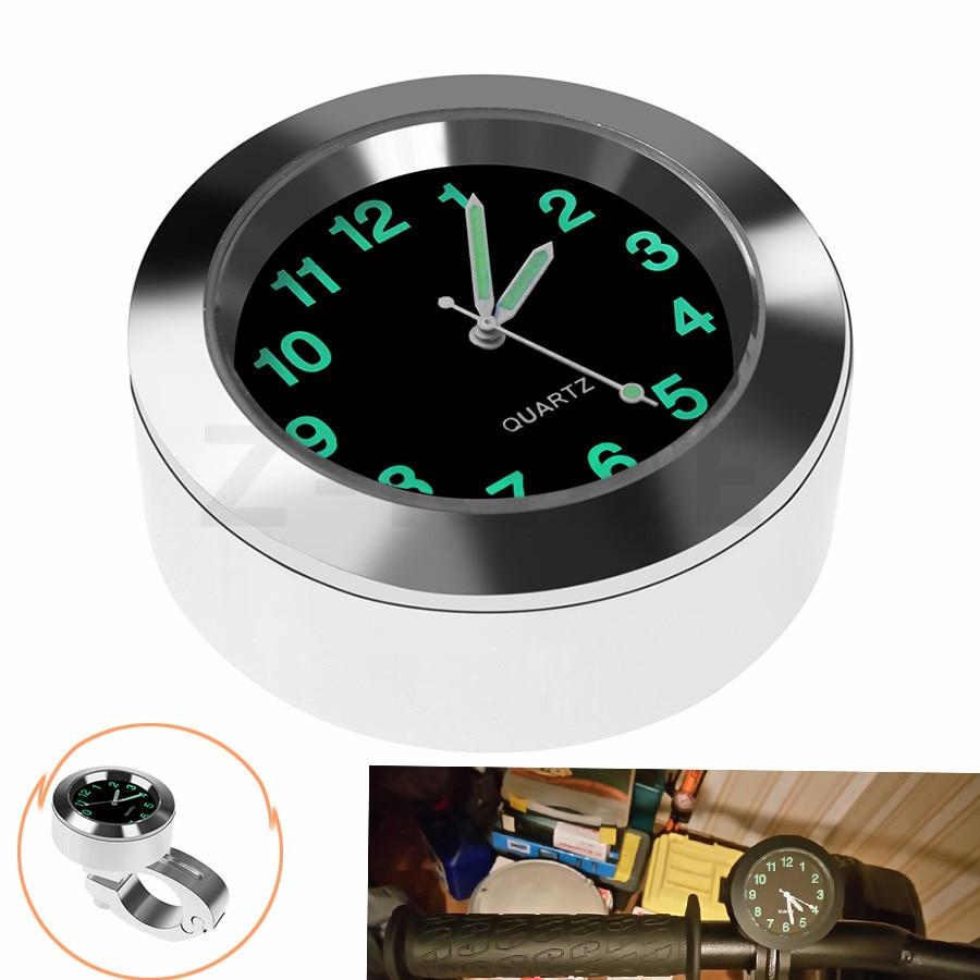 for Motorcycle Clock Waterproof 7/8 1 Chrome Handlebar Mount Quartz Watch for Harley Davidson Honda Yamaha Suzuki Kawasaki 1pc