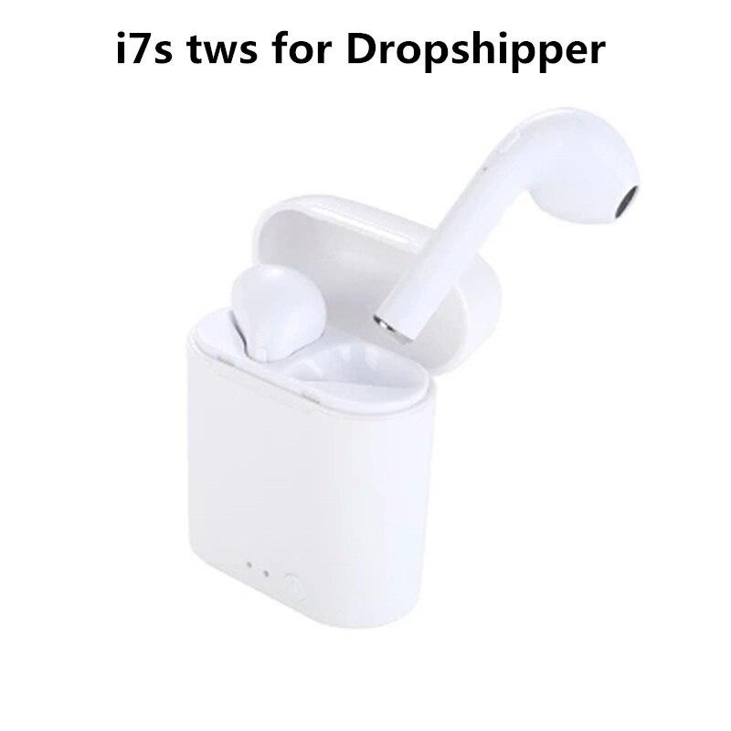 Wireless Headset Bluetooth Ohrhörer i7S Tws Ohrhörer Twins Kopfhörer Mit Lade box Kopfhörer Für iPhone Unterstützen Dropping