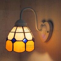 European Mediterranean tiffany retro wall lamp hallway cozy Creative lamp bar corridor