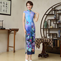 Hot Sell Women Sexy Long Cheongsam Novelty Chinese Style Qipao Dress Silk Chinese Vintage Silm Women Cheongsams 165