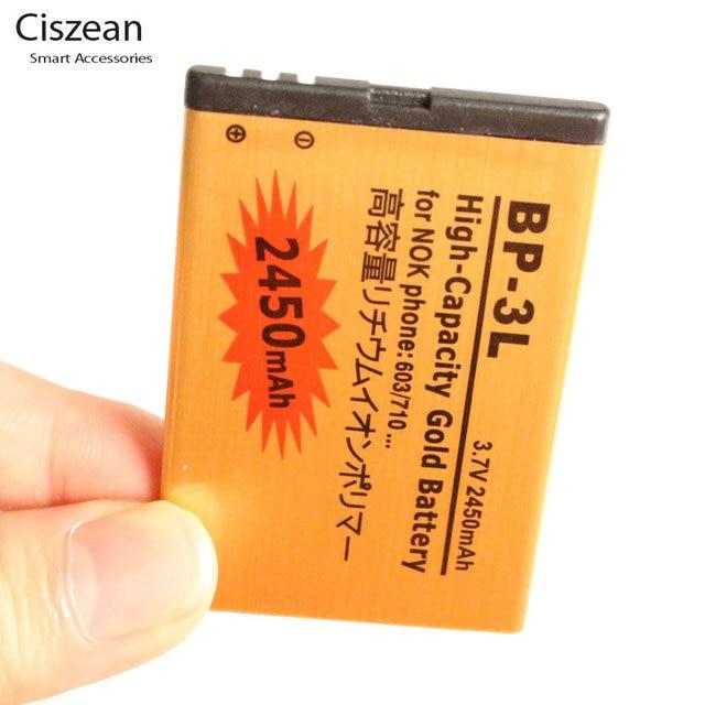 2cb176e4d95 1x2450 mAh BP 3L/BP 3L/BP3L Bateria Ouro Substituição Bateria Li ion ...