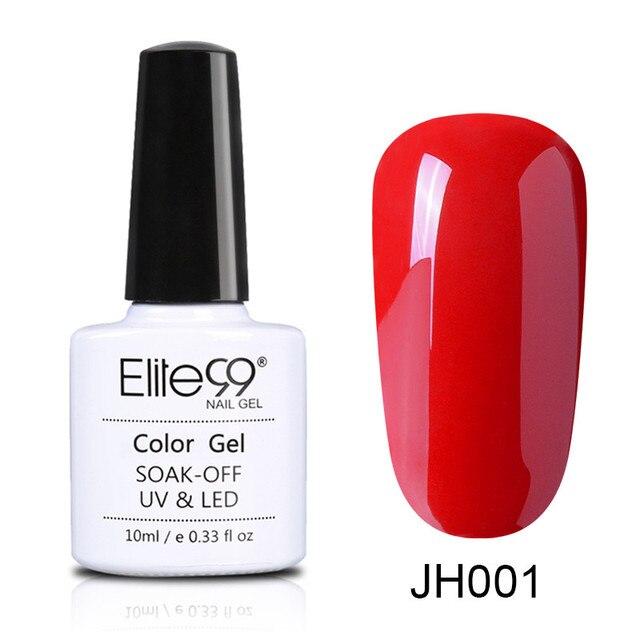 Elite99 10 ml Wein Rot Farbe Serie Nagellack Semi Permanent Nagel Gel Lack Tränken Weg Vom UV LED Gel Lacuqer bunte Polituren