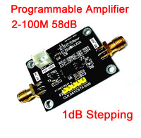 2 100M 58dB Programmable Amplifier 1dB Stepping 0.5W output ham radio AM FM HF power supply: 5v