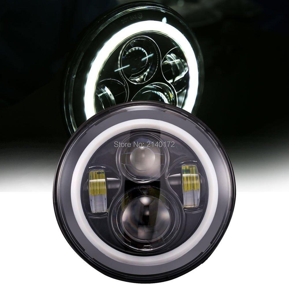<font><b>7</b></font>&#8221; <font><b>INCH</b></font> Round <font><b>led</b></font> <font><b>headlights</b></font> with Halo Ring Angel eyes <font><b>led</b></font> <font><b>headlight</b></font> for Harley Jeeps Wrangler JK 07-15