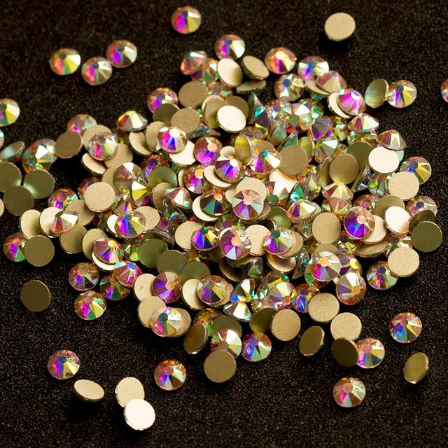 YANRUO 2088NoHF 8 Big 8 Small Non Hotfix DIY Strass Crystal Rhinestones Stick On Nail Art Decorations DIY Needlework Clothes 4