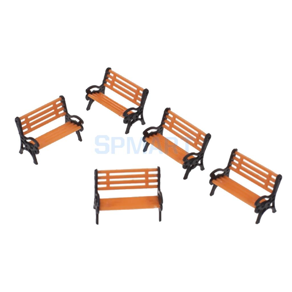 Terrific Us 3 6 25 Off Magideal 5Pcs Pack 1 75 Scale Plastic Model Park Bench Model Building Yard Garden Street Scene Layout Landscape Children Toys In Model Caraccident5 Cool Chair Designs And Ideas Caraccident5Info