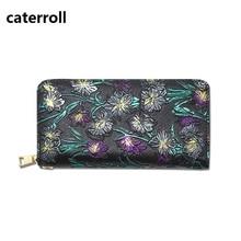 Купить с кэшбэком  wallet women pu leather purse luxury brand ladis clutch money bag long floral women wallets and purses