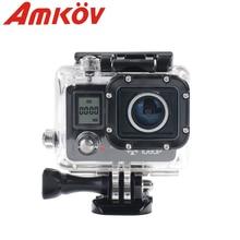 Original 20MP AMKOV AMK 5000 S 1080 P Wifi Acción Cámara 170 grados de Amplio Ángulo de Cámara digital Resistente Al Agua 30 M Cámara del deporte de