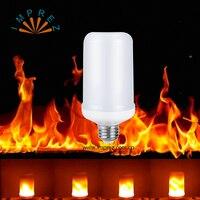 10pcs/lot LED Flame Effect Fire Light LED Flame Bulbs Creative Lights Flickering Emulation Vintage Atmosphere Decorative Lamp