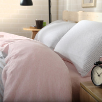 Bedding Set 4 Pcs Cotton Naked Solid Color Twin/Full/Queen/King Bed Set Bed Linens Duvet Cover Bed Flat/Fitted Sheet