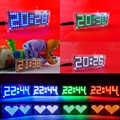 DIY Комплекты цифровые часы электронные будильник микроконтроллер время Зеленый цвет Матричный светодиодный термометр
