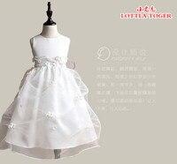 2017 New fashion lace pierwsza komunia sukienka w stylu vintage-line scoop dekolt długie noble ivory lace flower girl sukienki na Wesele