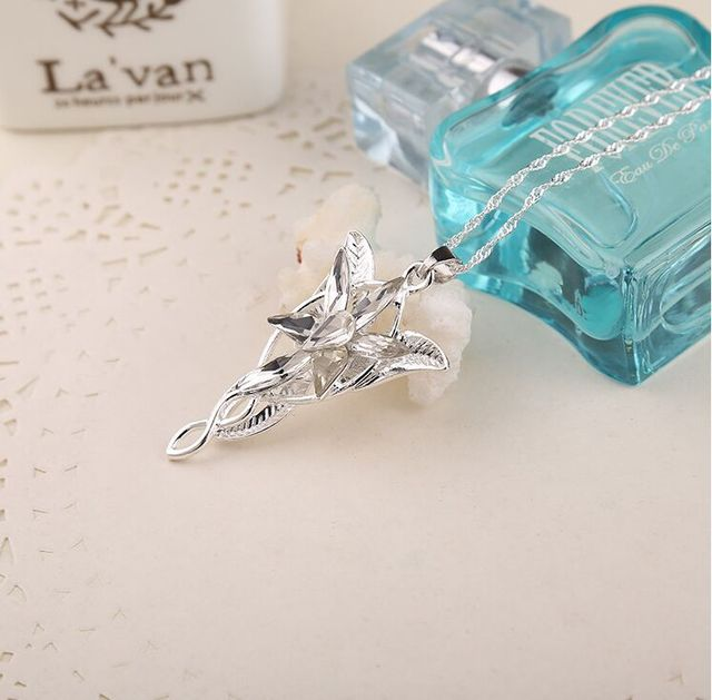 Evenstar Stone Pendant Lord Of The Rings Necklace for Women Birthday Gift