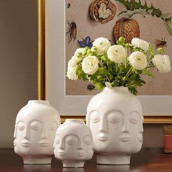 Ceramic vase decoration Modern minimalist model room living room soft decoration Chinese Ceramic Vase Vase Decoration Home