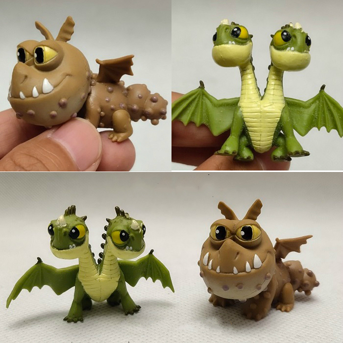 Servwell Dragon Gronckle Hideous Zippleback Duoble Head Dragon Doll Action Figure Toys Children Gift