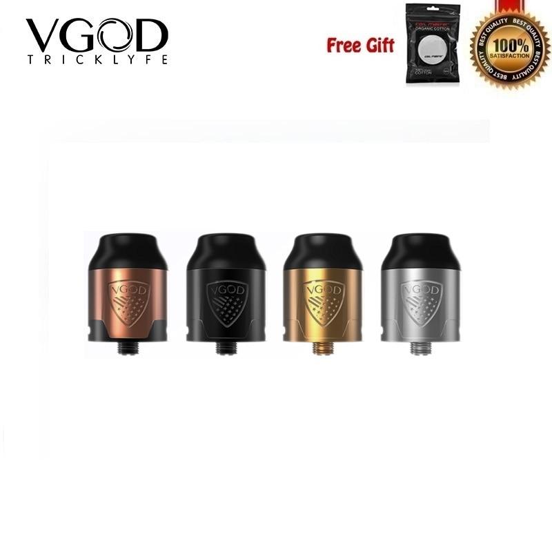 Original VGOD Elite RDA Vape réservoir 24mm reconstructible goutte atomiseur 2 ml pour Vgod Elite Pro Mech Mod VS truc réservoir PRO R2 RDTA