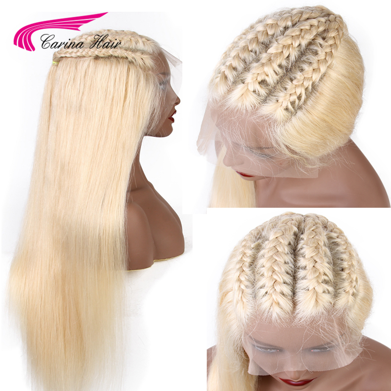 Carina 13x6 Frontal Lace Wig Remy Hair 613 Blonde Lace Front Wig Brazilian Straight Human Hair