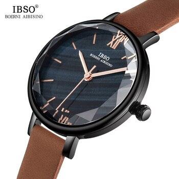 Reloj de cuarzo IBSO para mujer, diseño Original de marca, reloj de pulsera para mujer, relojes de pulsera con correa de acero inoxidable