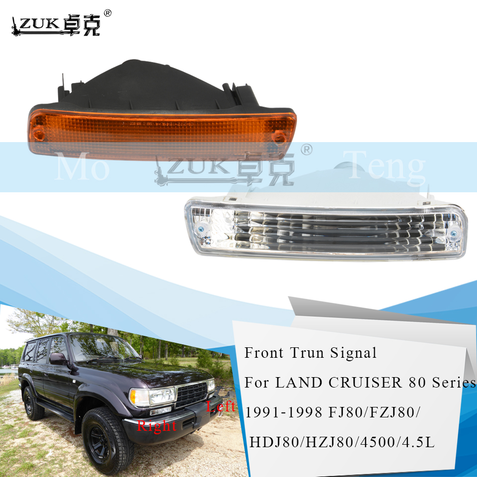 ZUK Front Bumper Turn Signal Lamp For TOYOTA LAND CRUISER 80 Series 1991 1992 1993-1998 LC80 FJ80 FZJ80 HDJ80 HZJ80 4500 4.5L