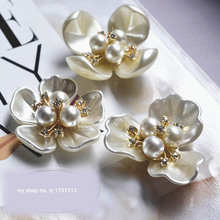 3D Handmade beaded flowers Patches for clothing DIY sequins rhinestone parches Beaded floral applique collar patch shoes