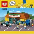 Los Simpsons Figuras de Accion KWIK-E-MART 16004 2232 Unids Modelo de Bloques de Ladrillos de Construccion Con 71016