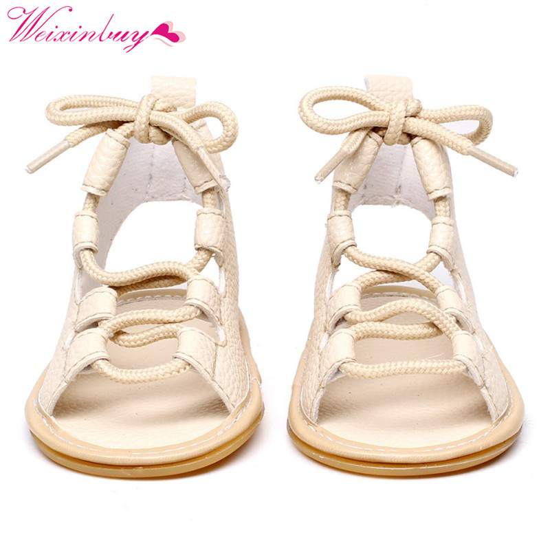 Baby Sandals Newborn Girl Shoes Fashion Summer Roman PU Baby Girl Sandals Newborn Baby Girl Shoes Strap