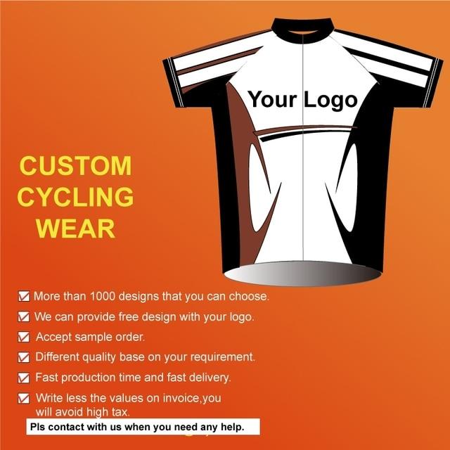 No Moq Custom Design Road Cycling Team Wear Moutain Sport Bike Jersey Oem High