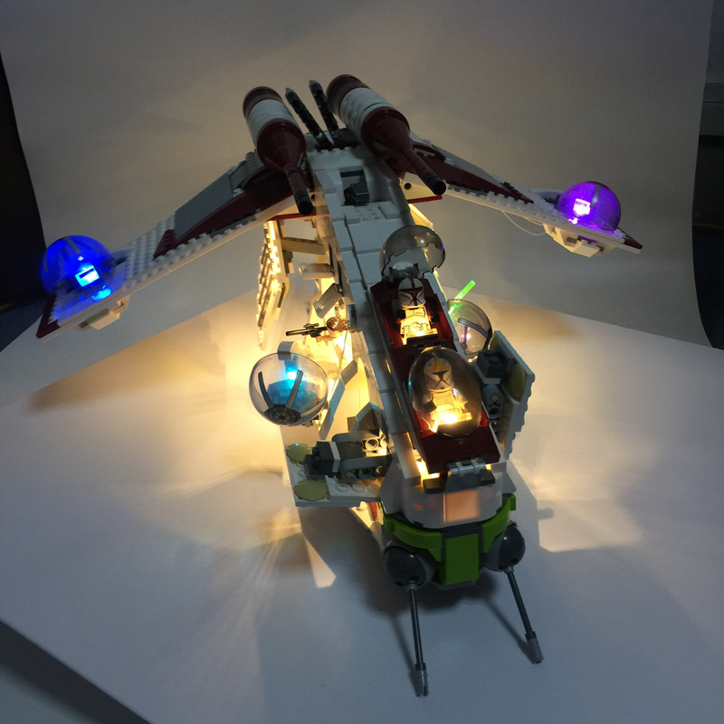 LED light up kit for lego 75021 and <font><b>05041</b></font> <font><b>star</b></font> <font><b>Wars</b></font> The Republic Gunship building blocks (only light kit included) image