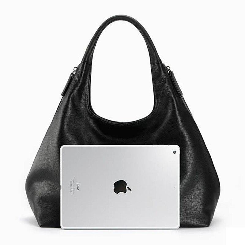 100% sacs hobo en cuir véritable pour femmes sac à bandoulière Designer sacs à main de haute qualité femme sac à bandoulière de luxe sacs à poignée supérieure-in Sacs à bandoulière from Baggages et sacs    3
