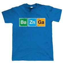 Tricolor BAZINGA periodic table elements t-shirt