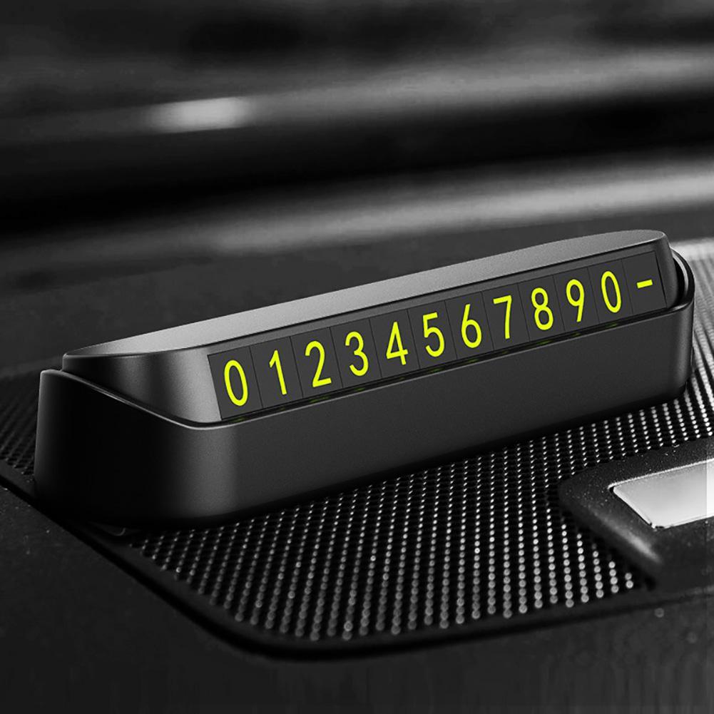 Número de Telefone Do Cartão de Estacionamento do carro Adesivo Gaveta Escondida Estilo Placa Auto Acessórios