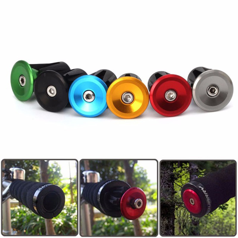 1Pair Bike Handlebar End Plugs MTB Road Bicycle Aluminum Handle Bar Protector Cap Cycling High Quality Hot Sell PA0089