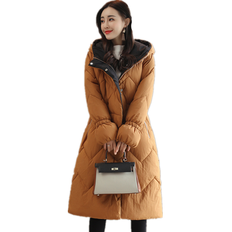 Fashion Winter Jacket Women Hooded Long Parka Down Cotton Coat Women Thicken Womens Winter Jackets Overcoat Manteau Femme C3808