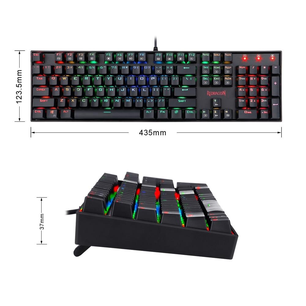 backlit teclado do jogo mecânico para o jogador de computador