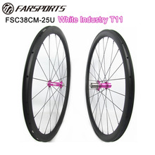 Farsports 38mm 25mm clincher wheelsets with Ti cassettebody White Industry T11 hub 1515g Far Sports U