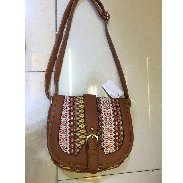 Women Shoulder Sling Bag Vintage Small Bag Pu Leather Patchwork Crossbody Bag Bohemian Style Lady Messenger Bag 5